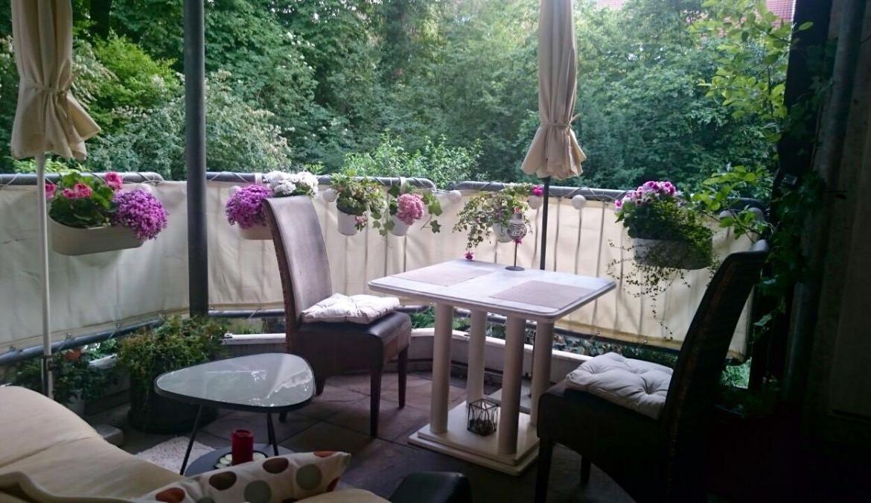 Balkon aus Wohnzimmer