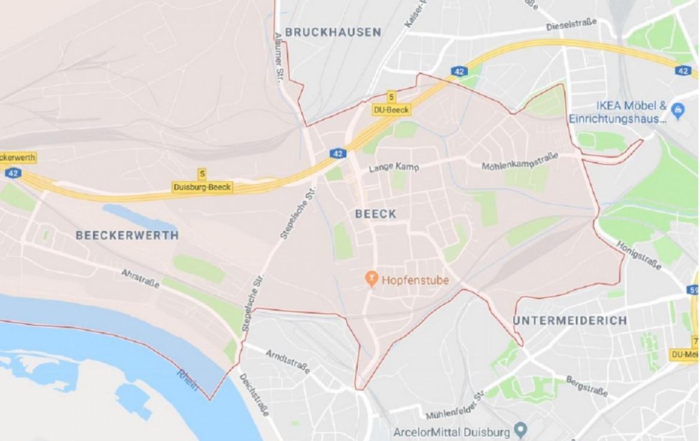 Ausschnitt Stadtplan