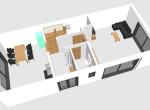 Draufsicht Raumaufteilung Erdgeschoss