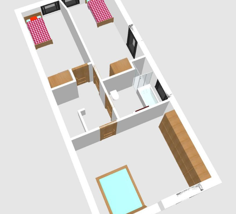 Draufsicht Raumaufteilung Dachgeschoss