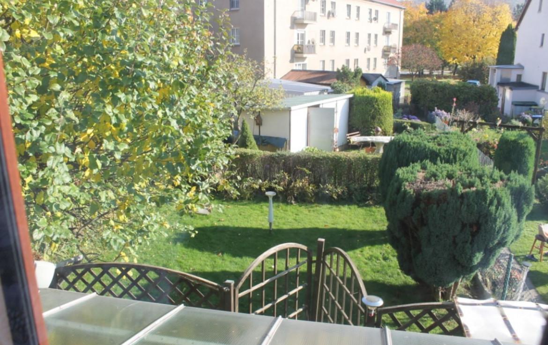 Sicht auf Garten vom Wohnz.